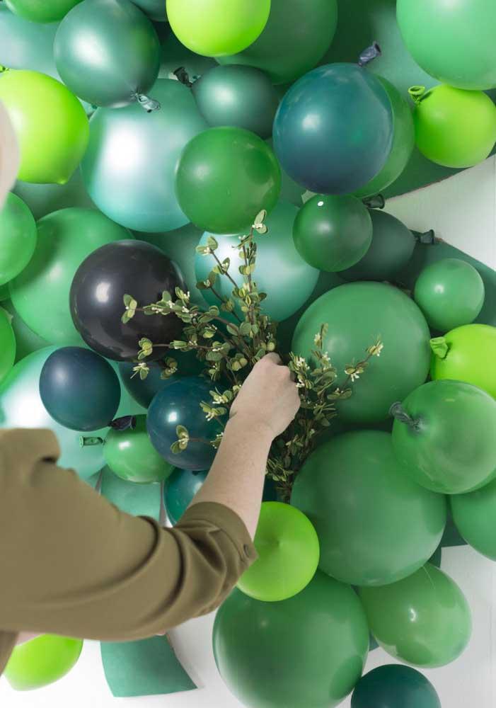 Balões verdes para uma decoração rápida e fácil de Saint Patrick