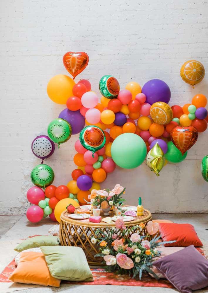 A descontração também fala alto nesse tema de aniversário adulto