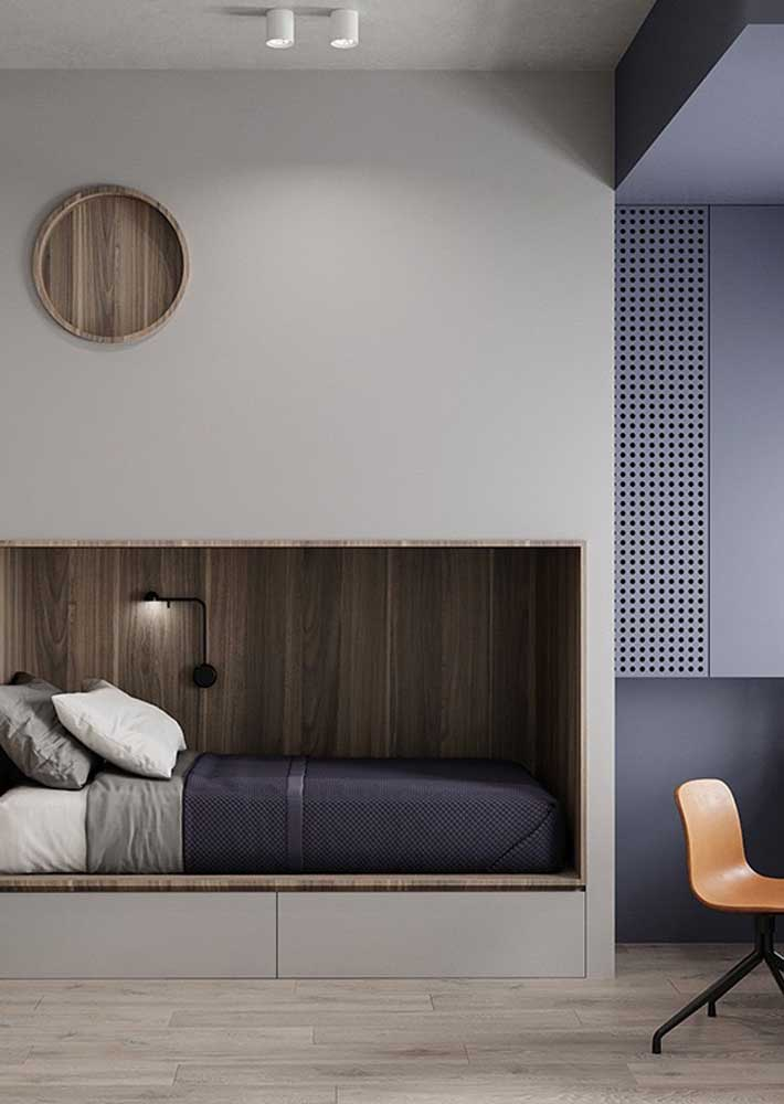 Nicho na parede para a cama: dica de decoração moderna para o quarto