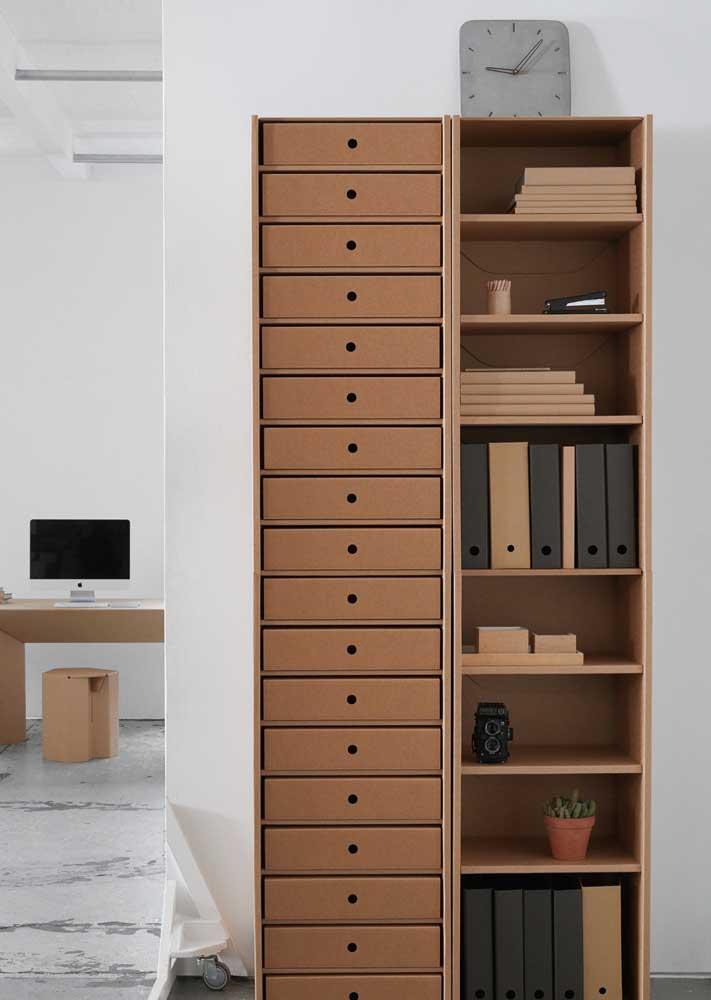 Armários de escritório podem ser usados na decoração da casa