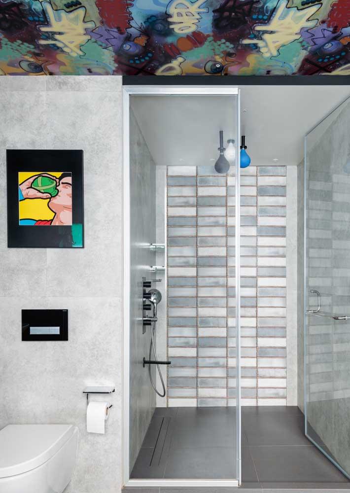 Já pensou em levar arte para o banheiro?
