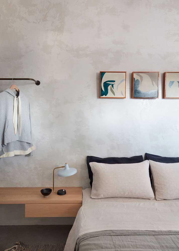 Cores claras no quarto favorecem o relaxamento
