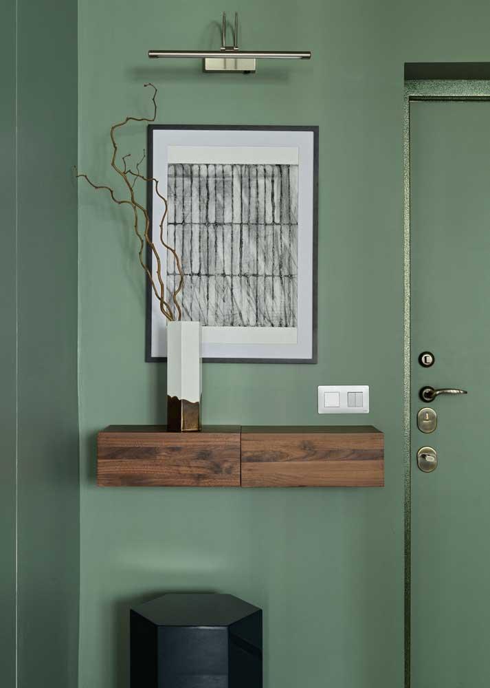 Dicas de decoração simples: pinte paredes e porta da mesma cor para criar uma unidade visual