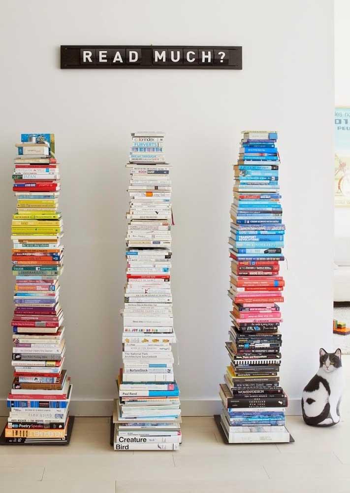 Use livros na decoração