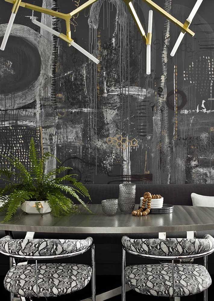 Às vezes basta uma parede diferentona para conquistar uma decoração incrível
