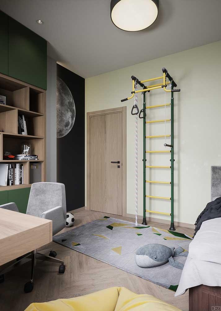 Móveis planejados para quarto infantil com destaque para a área de brincar
