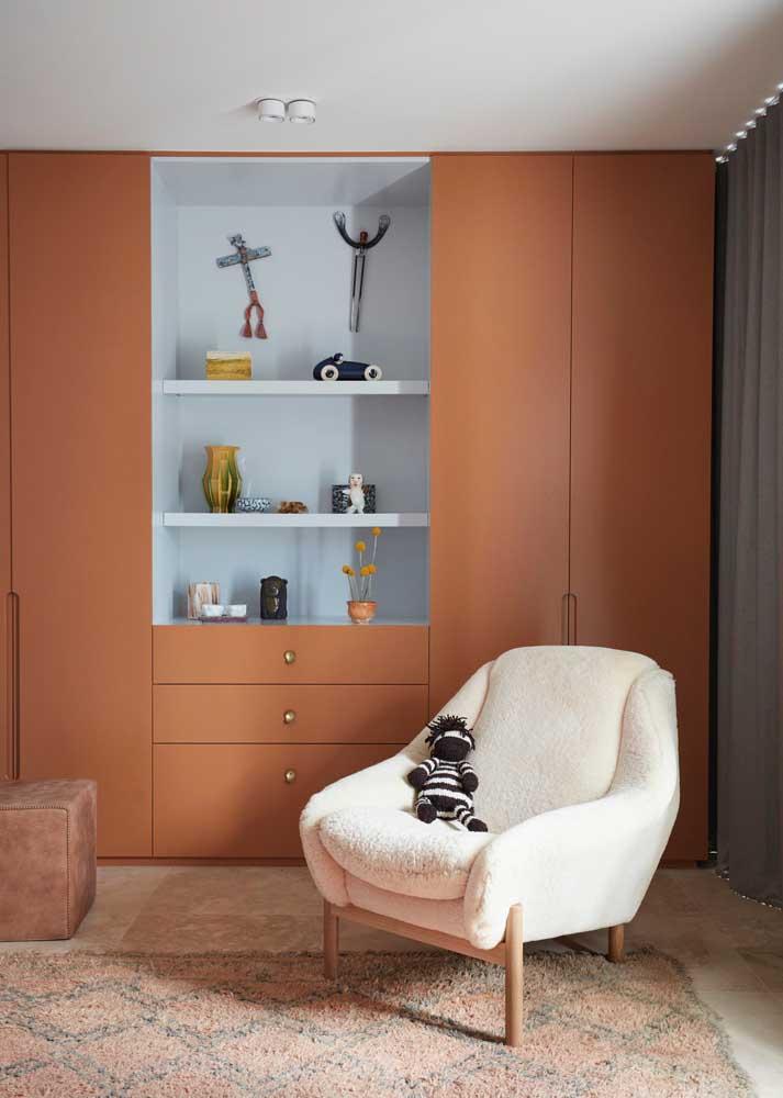 As cores dos móveis planejados para quarto devem seguir a proposta do ambiente