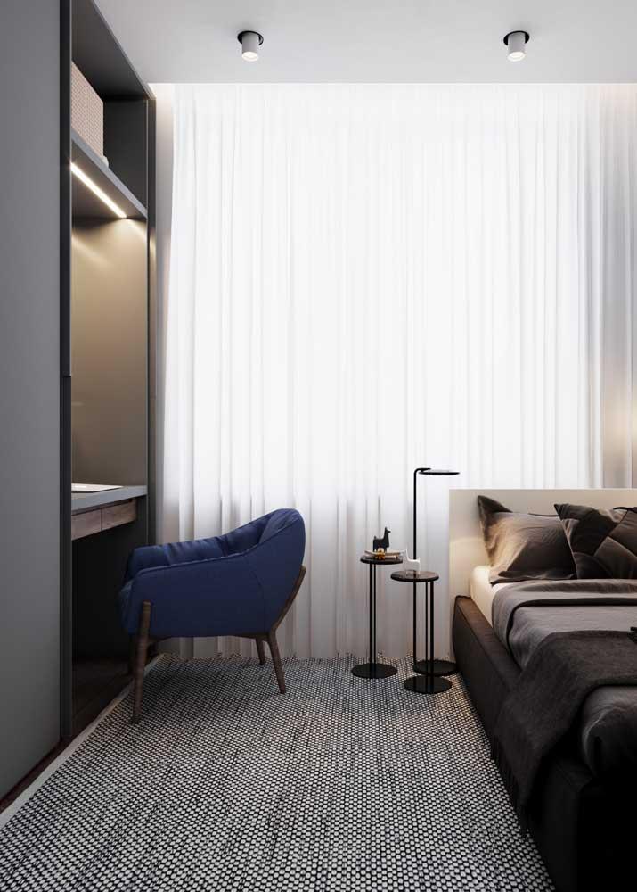 Móveis planejados para quarto de solteiro com destaque para a modernidade do projeto