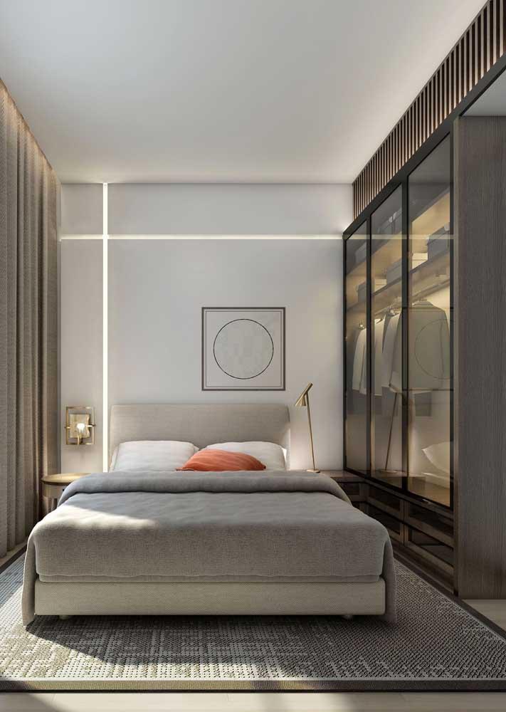Móveis planejados para quarto pequeno: cores neutras e claras para ganhar amplitude