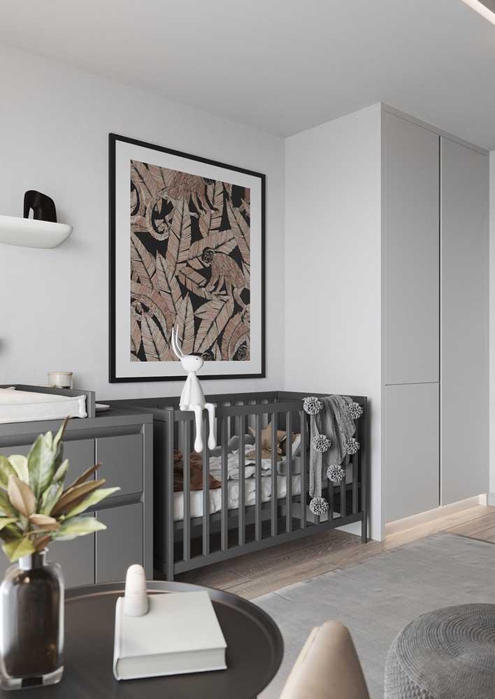 Móveis planejados para quarto de bebê moderno e original com cores que fogem da paleta comum